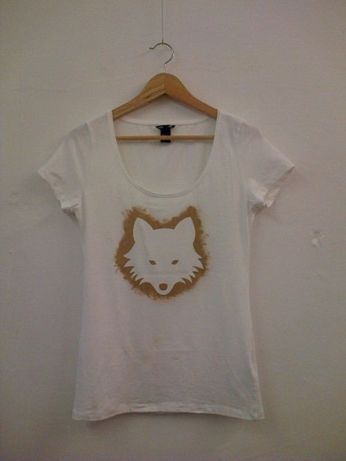 stencil print t-shirt customising