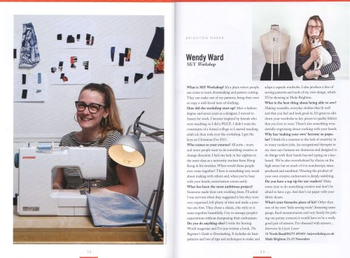 Wendy Ward in Viva Brighton magazine