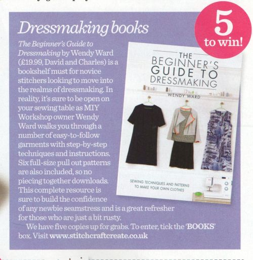 win the beginners guide to dressmaking in sew magazine