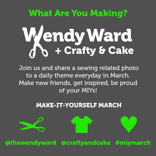 MIYMarch - make it yourself march instagram wendy ward and crafty and cake