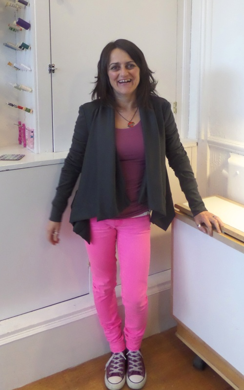 sewing with knits - drapey cardi