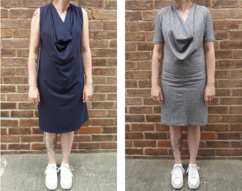 make a cowl neck dress
